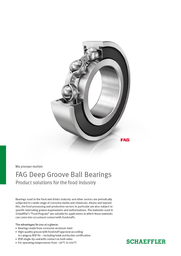FAG Deep Groove Ball Bearings