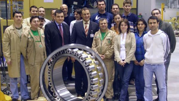 Primul rulment de dimensiuni mari produs în întregime de către Schaeffler România
