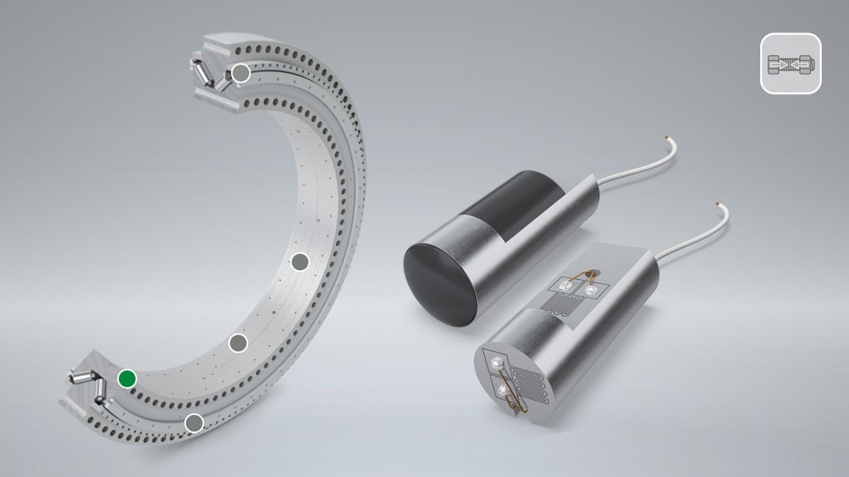 În cazul rulmenților cu flanșă, preîncărcarea șuruburilor are un impact direct asupra performanței și duratei de funcționare a rulmentului. Pinul LoadSense monitorizează preîncărcarea șurubului în timpul funcționării și avertizează utilizatorul atunci când se scade sub un prag.