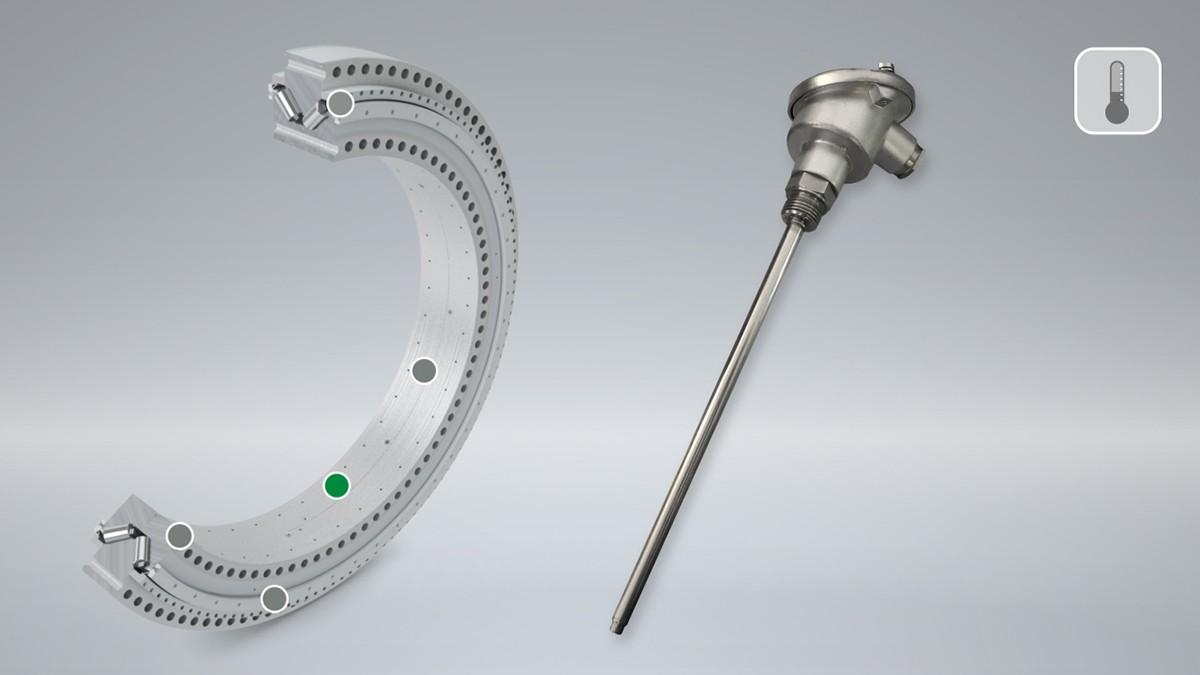 Temperatura rulmentului are o influență mare asupra prestrângerii din rulment și astfel asupra duratei acestuia de funcționare. O creștere a temperaturii de funcționare poate fi un indiciu al evoluției unei deteriorări sau al posibilei deplasări a inelului.