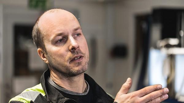 Mikael Eriksson, operatorul gaterului Kåge este încântat.