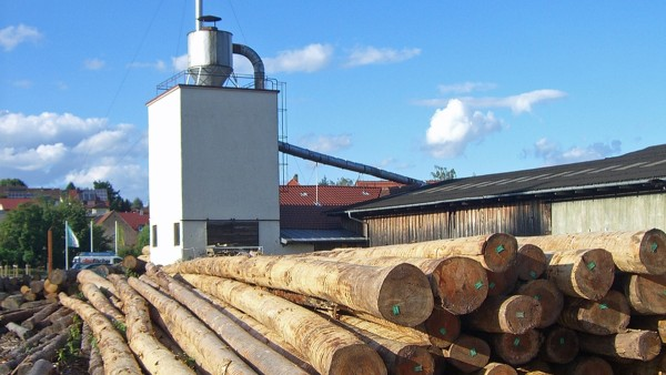 Exterior view of the hardwood sawmill