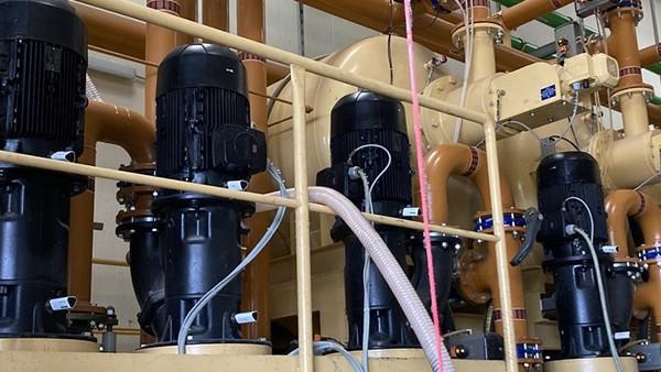 Monitorizarea pompelor într-un sistem central de alimentare