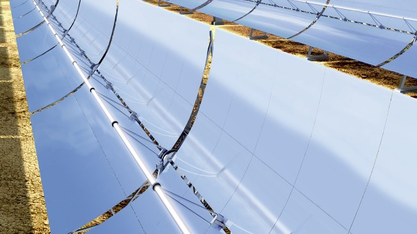 Solar thermal concentrating power pants