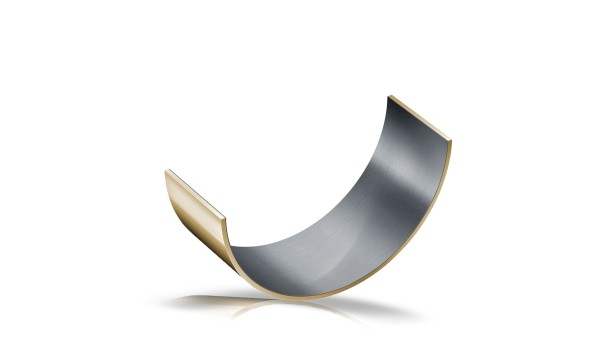 Metal-polymer composite plain bearings